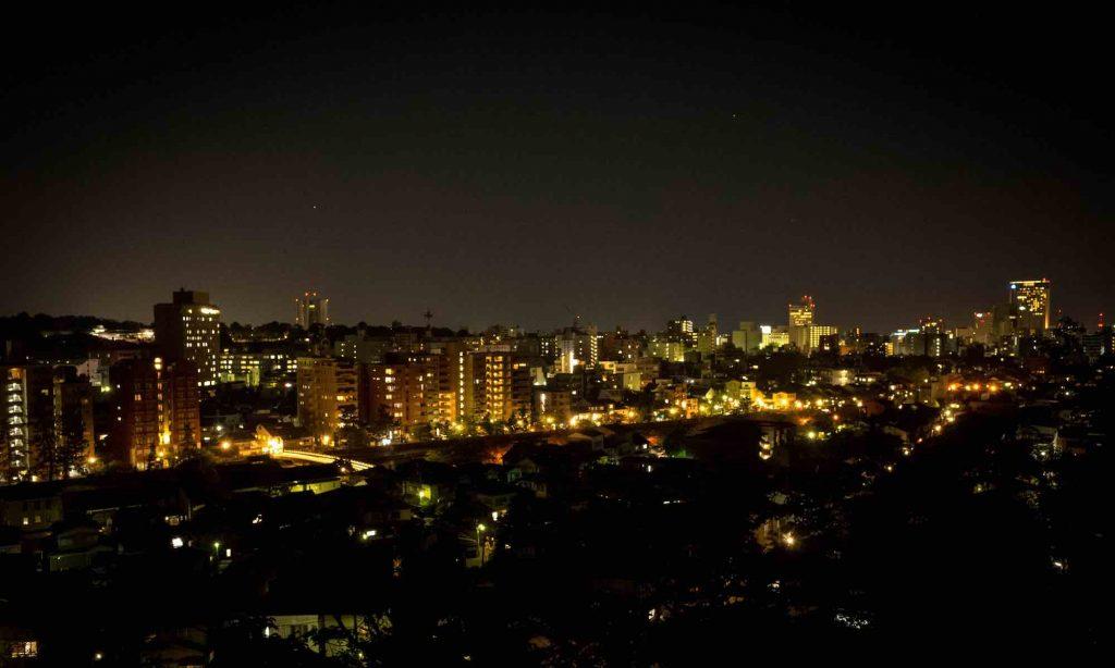 金沢宝泉寺から見る夜景