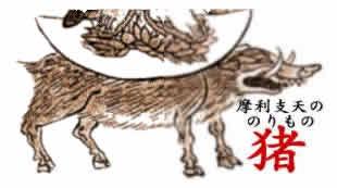 摩利支天の獸座「イノシシ」