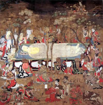 国宝 仏涅槃図 応徳三年(1086)銘 金剛峯寺 (267.6cm×271.2cm)