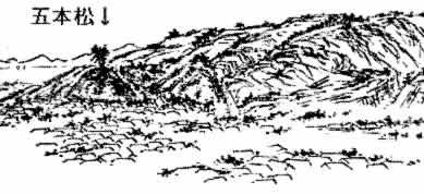 金沢卯辰山にそびえる魔神の棲家「五本松」
