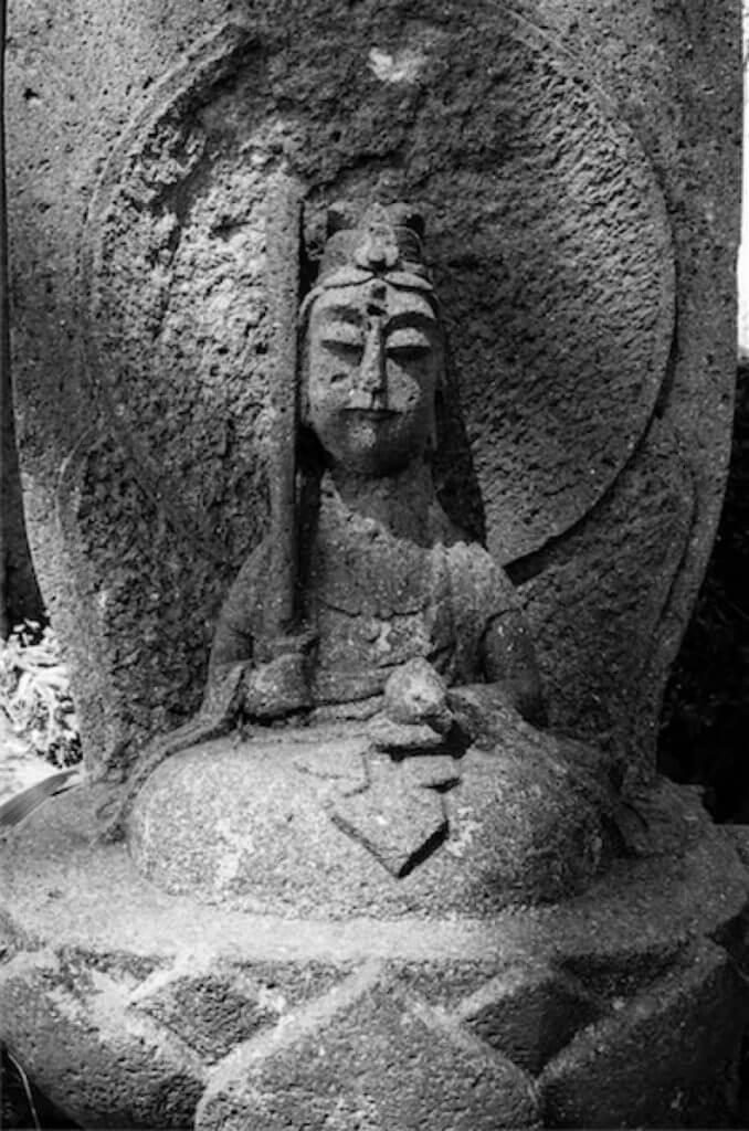 文殊菩薩(宝泉寺の石仏)
