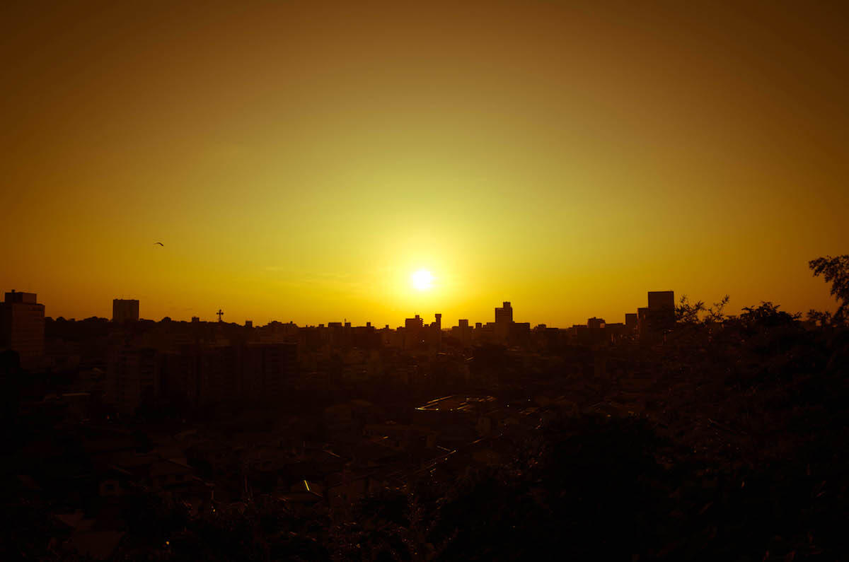 宝泉寺から見る金沢の夕景