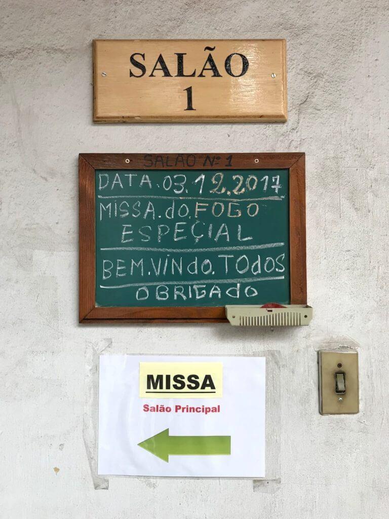 南米開教区ブラジル別院サンパウロ金剛寺での護摩法要
