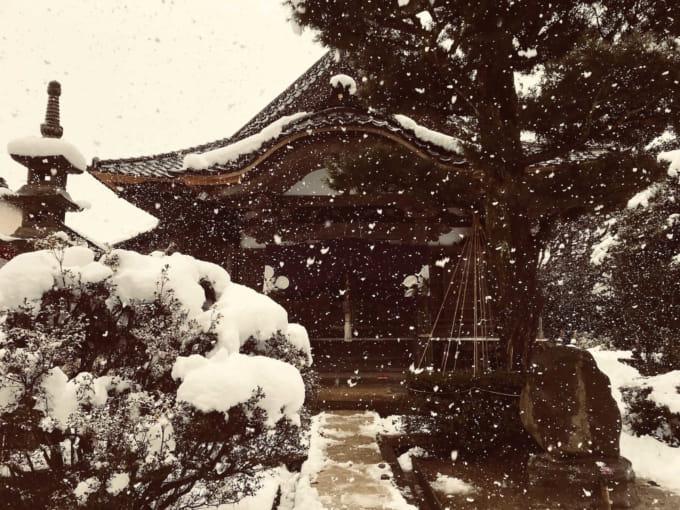 雪の宝泉寺 2018年1月4日
