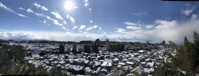 五本松から金沢の雪景色