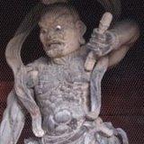 高野山大門の仁王尊(阿形)像