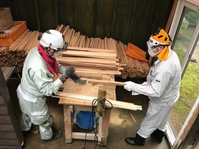 護摩木づくり 2018年5月連休