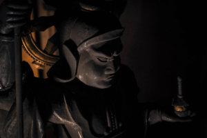 毘沙門天像(部分)宝泉寺