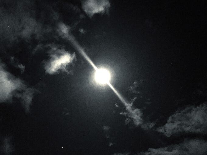 2018年11月23日の満月(石川県金沢市)