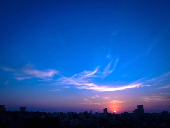 2019年4月4日宝泉寺からの夕景