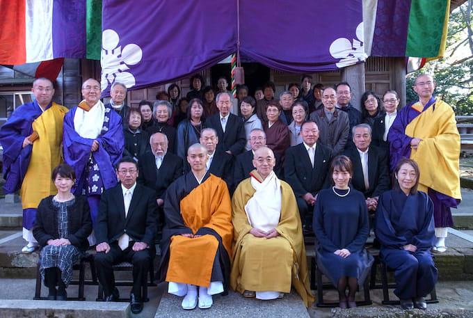 得度式於金沢宝泉寺